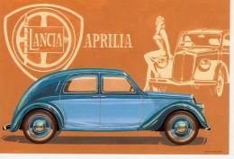Lancia Aprilia Berlina  -  1936   -  Illustrateur Aldo Brovarone  -  Carte Postale - Turismo