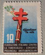 FRANCOBOLLO / CHIUDILETTERA – FEDERAZIONE ITALIANA CONTRO LA TUBERCOLOSI – L 10