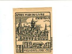 MEZIERES (08) - Ex Libris Après Midi Du Livre 5 Dec 1937 - Ex-libris