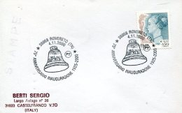 14568 Italia, Special Postmark  2000 Rovereto, 75th Anniversary Of The Liberty Bell,  La Cloche De Rovereto - Italy