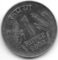 *india 1 Rupee 2003 N  Dot   Km 92.2   Unc - Inde