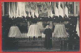 67 - SILTZHEIM - Carte Photo - Intérieur De L' église - Baptème Des Cloches En 1925 - Curé - France