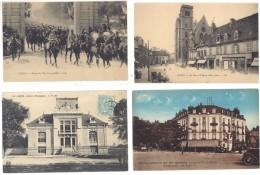 4 Cpa Dijon - église, Hôtel Morot, Parc 14 Juillet, Institut Oenologique  ((S.136)) - Dijon