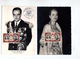 Carte Maximum Fdc 1956 Grace Kelly Rainier III - Maximum Cards