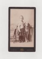 AMSTERDAM-Portrait Jeune Enfant Et Son Chien... Photo CDV 19°/début 20° - Anonyme Personen