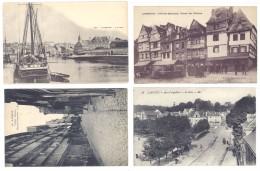 4 Cpa Dinan : Port, Poste, Vieilles Maisons ((S.139)) - Lannion