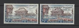 DAHOMEY . YT  155 Et 170  Neuf **  Village Ganvié Et Timbre Surchargés  1960-62 - Benin – Dahomey (1960-...)