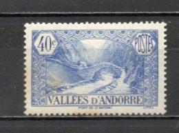 ANDORRE N° 33  NEUF AVEC CHARNIERE COTE 15.50€   PAYSAGE  VOIR DESCRIPTION