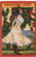 Czechoslovakia Export India Inde 1918-1945 Boites D'allumettes-etiquettes, Dancing Lady, Girl, Catal.Nr.247 - Boites D'allumettes - Etiquettes