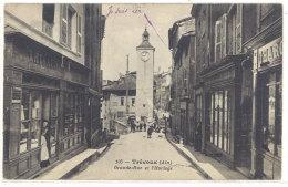 Cpa Trévoux - Grande Rue Et L'Horloge  ((S.141)) - Trévoux