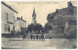 Cpa St Denis En Bugey - La Poste Et L'église  ((S.154)) - France