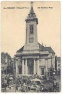 Cpa Besançon - L'église St-Pierre Et Le Marché Aux Fleurs  ((S.155)) - Besancon
