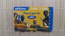 Prepaidcard Rwanda  Used 2 Scans  Rare - Rwanda