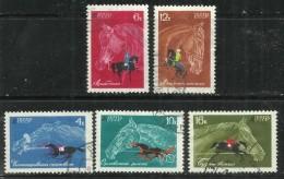 """Sowjetunion  3458-3462 """"5 Briefmarken Mit Abbildungen Von Reitpferden, Satz Kpl. """" Gestempeltl Mi.:3,50 €"""