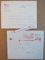 Compagnie Générale Transatlantique Carte Autographe Du Directeur 1966 Flamme Postale Maurice Genevoix Lettre French Line - Autografi