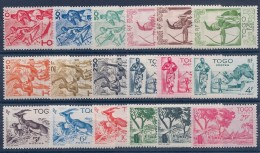 TOGO - 236/253 FAUNE ARBRE ARC DANSE SERIE COMPLETE NEUF* MLH - Togo (1914-1960)