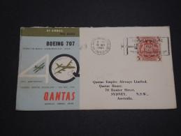 AUTRALIE - Enveloppe Illustrée Qantas Par Avion En 1960 Pour Sydney - A Voir - L 4554 - Airmail