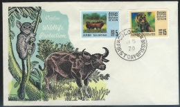 Ceylon   1970  Sc#439-40   Animals On FDC - Sri Lanka (Ceylon) (1948-...)