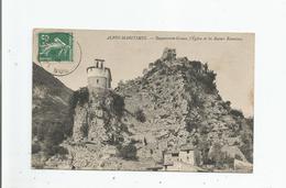 ROQUESTERON GRASSE ALPES MARITIMES L'EGLISE ET LES RUINES ROMAINES 1910 - Frankreich