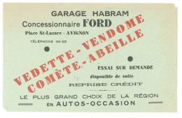 Feuille Papier Publicitaire : Garage Habram, Avignon, Concessionnaire Ford - Publicités