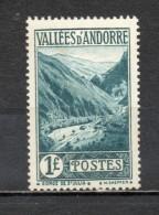 ANDORRE N° 39  NEUF AVEC CHARNIERE COTE 23.00€   PAYSAGE    VOIR DESCRIPTION