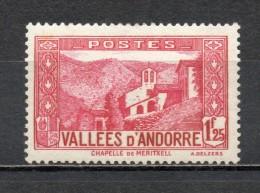 ANDORRE N° 39A  NEUF AVEC CHARNIERE COTE 66.00€   PAYSAGE CHAPELLE   VOIR DESCRIPTION