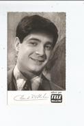 CLAUDE ROLLET CARTE AVEC AUTOGRAPHE 1962 - Autografi