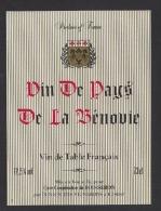 Etiquette De Vin De Pays De La Bénovie  -  Union Des VIgnerons à  34160 - Unclassified