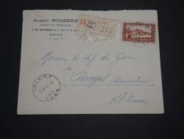 FRANCE / ALGÉRIE - Enveloppe En Recommandé De Oran Pour Limoges En 1936 - A Voir - L 4574 - Algérie (1924-1962)
