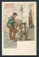 Le Remouleur. Arrotino. Superbe Lithographie Signée Barone.  Thème Métiers. - Other Illustrators