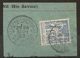 15c SAGE Bien Centré, ST GERVAIS LES BAINS Haute Savoie. - 1876-1898 Sage (Type II)