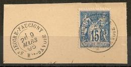15c SAGE ST JEOIRE-FAUCIGNY Haute Savoie. FRAPPE SUPERBE. - 1876-1898 Sage (Type II)