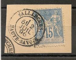 15c SAGE SALLANCHES Haute Savoie. - 1876-1898 Sage (Type II)