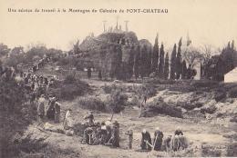44 / UNE SCEANCE DE TRAVAIL A LA MONTAGNE DU CALVAIRE DE PONTCHATEAU - Pontchâteau
