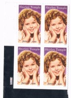 USA 2016 #5060 Legends Of Hollywood Shirley Temple 4 X 0.49c  MNH** - United States