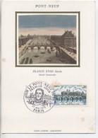 75 - Paris - Carte Maximum: Pont-Neuf : Photo Sur Soie, Avec Timbre: 1978 - Ponts