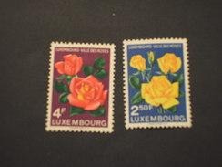 LUSSEMBURGO - 1956 FIORI 2 VALORI  - NUOVI(+) - Luxemburg