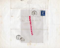 MARCOPHILIE- A NOUALHIER DEPUTE MAIRE LIMOGES-1860- 20 CENTIMES BLEU-PARIS-BIBLIOTHEQUE IMPERIALE - 1849-1876: Période Classique