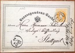 16603# AUTRICHE CORRESPONDENZ KARTE Obl SALZBURG STADT 1873 ENTIER POSTAL GANZSACHE STATIONERY OESTERREICH - Interi Postali