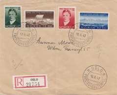 NORWEGEN 1942 - 4 Fach Frankierter R-Brief Gel. Oslo - Norwegen