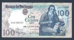 PORTUGAL BILLET DE 100 ESCUDOS 31 JANVIER 1984 - Portugal