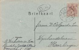 Briefkaart 27 Jun 1921 Oss *4* (typerader Langebalk) - Marcofilia