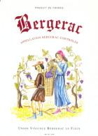 1 Etiquette Ancienne De VIN - BERGERAC - UNION VINICOLE BERGERAC LE FLEIX - Bergerac