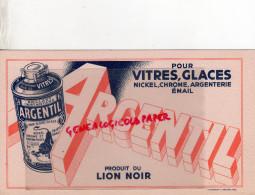 BUVARD - ARGENTIL- POUR NICKEL-CHROME ARGENTERIE- VITRES- EMAIL-LION NOIR -PARIS - Wash & Clean