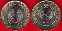 """Turkey 1 Lira 2012 """"150 Years Of The Court"""" BiMetallic UNC - Turquie"""