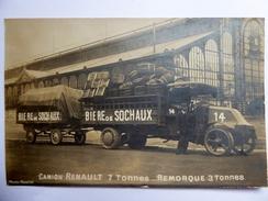 CPA Publicitaire Biere De Sochaux Et Camion Renault 1925 - Publicité