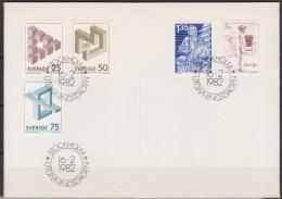 Schweden FDC 1982 Nr.1182 - 1186 Unmögliche Figuren, Zeitungsausträger,Kunst ( D 3420 ) - FDC