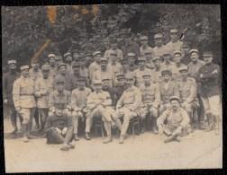 FRANCE 1918 - BOIS DE BOULOGNE - ECOLE DE SOUS OFFICIERS AUTOMOBILISTES - CARTE PHOTO COUPEE - Guerre 1914-18