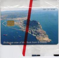GIBRALTAR PHONECARD VIEW OFTHE ROCK -GIB-C18-5000pcs -1/00-MINT/SEALED-RARE!!!