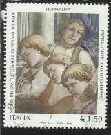 ITALIA REPUBBLICA 2005 PATRIMONIO ARTISTICO E CULTURALE  € 1,50 STORIA DEI SANTI DI FILIPPO LIPPI A PRATO USATO USED - 2001-10: Used